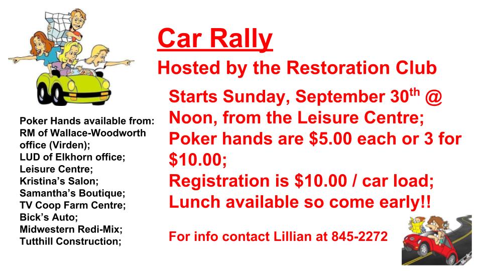 2018 Car Rally - 30 Sep 18